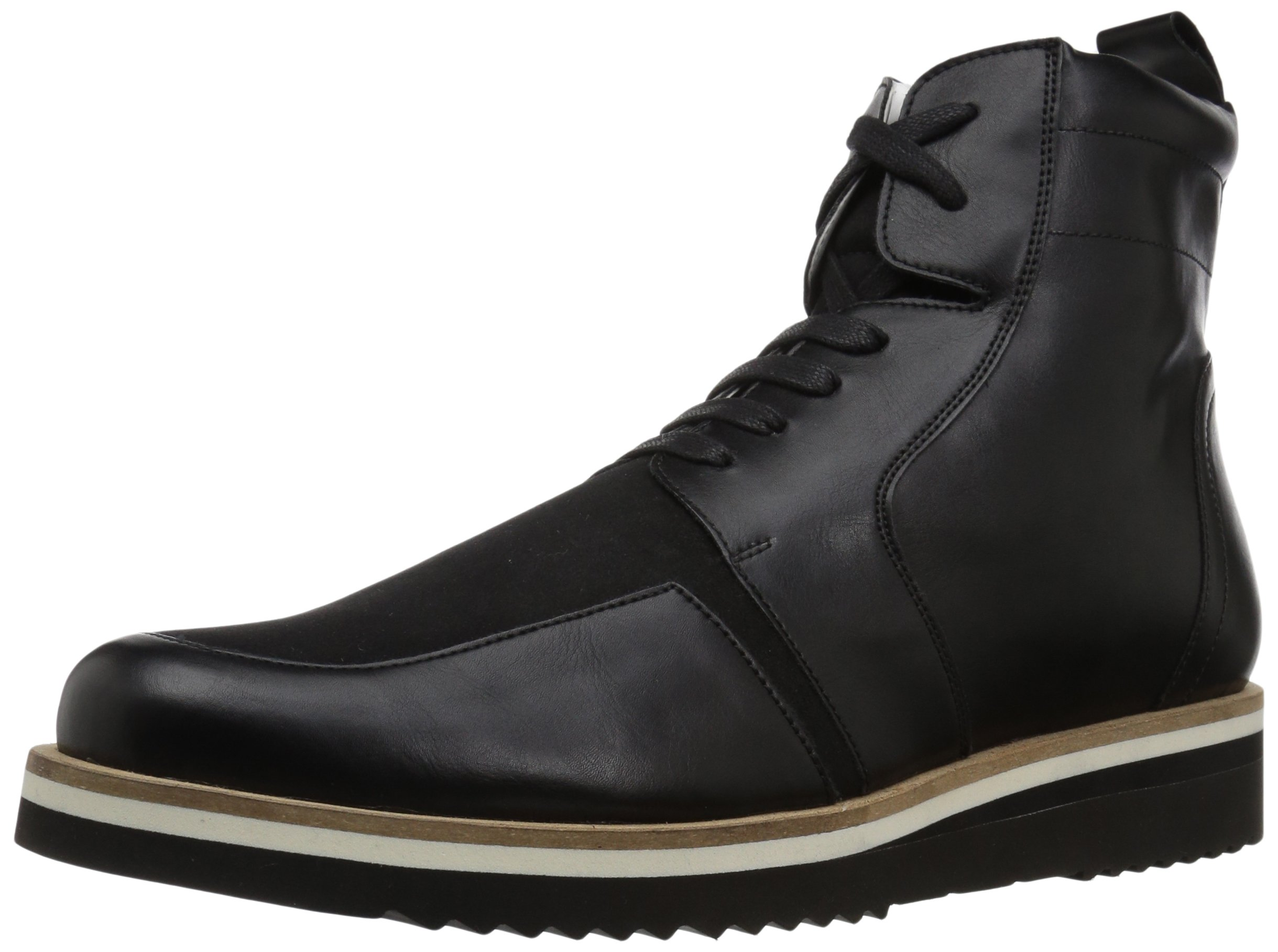 A|X Armani Exchange Men's Lace up Side Zip with Sole Detail Military and Tactical Boot, Nero, 12 M US