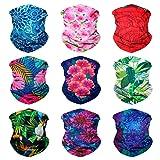 Sojourner 9PCS Seamless Bandanas Face Mask Headband