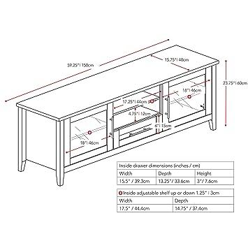 Amazon Com Corliving Tjk 603 B Jackson Tv Bench 65 Black Wood