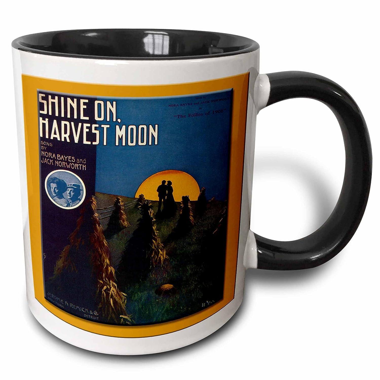 3dRose 126371/_4 Vintage Shine On Harvest Moon Follies of 1908 Song Sheet Cover Mug 11 oz Black