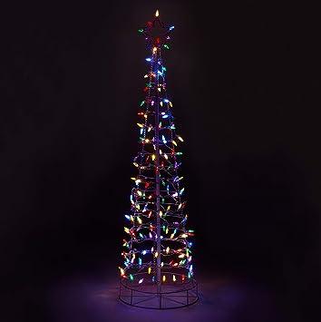 Amazon.com: Aurio AU-3CT6-M-S 6ft 3D Cone Outdoor Christmas Tree ...