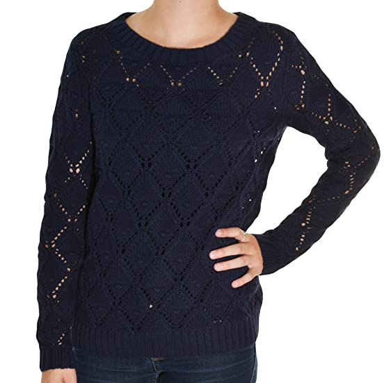 Tommy Hilfiger Womens Long Sleeve Knit Sweater at Amazon Women's ...