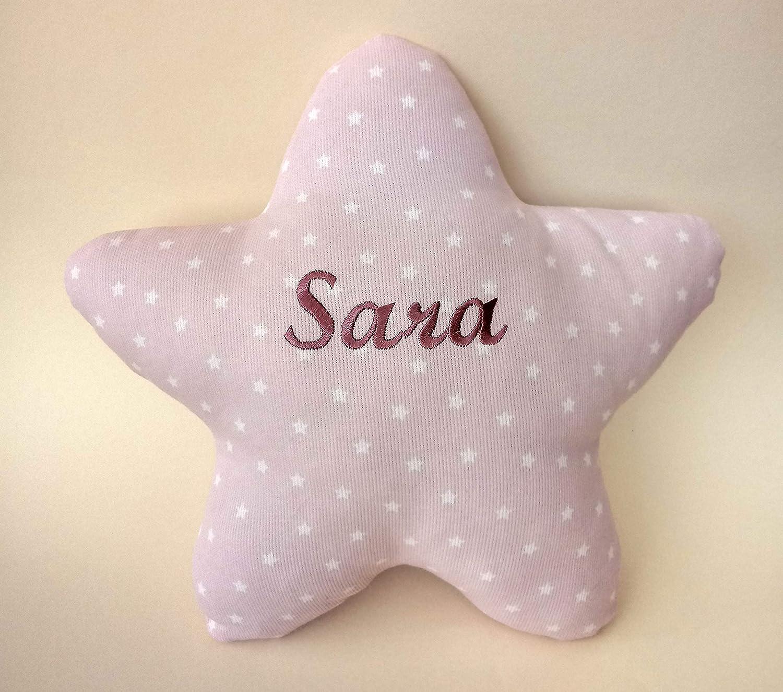 Cojín estrella personalizado para bebés, con su nombre ...