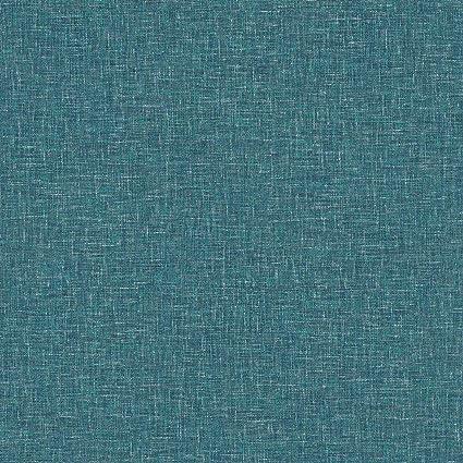 Linen Textured Wallpaper Arthouse Teal Plain Woven Effect Spongeable Luxury