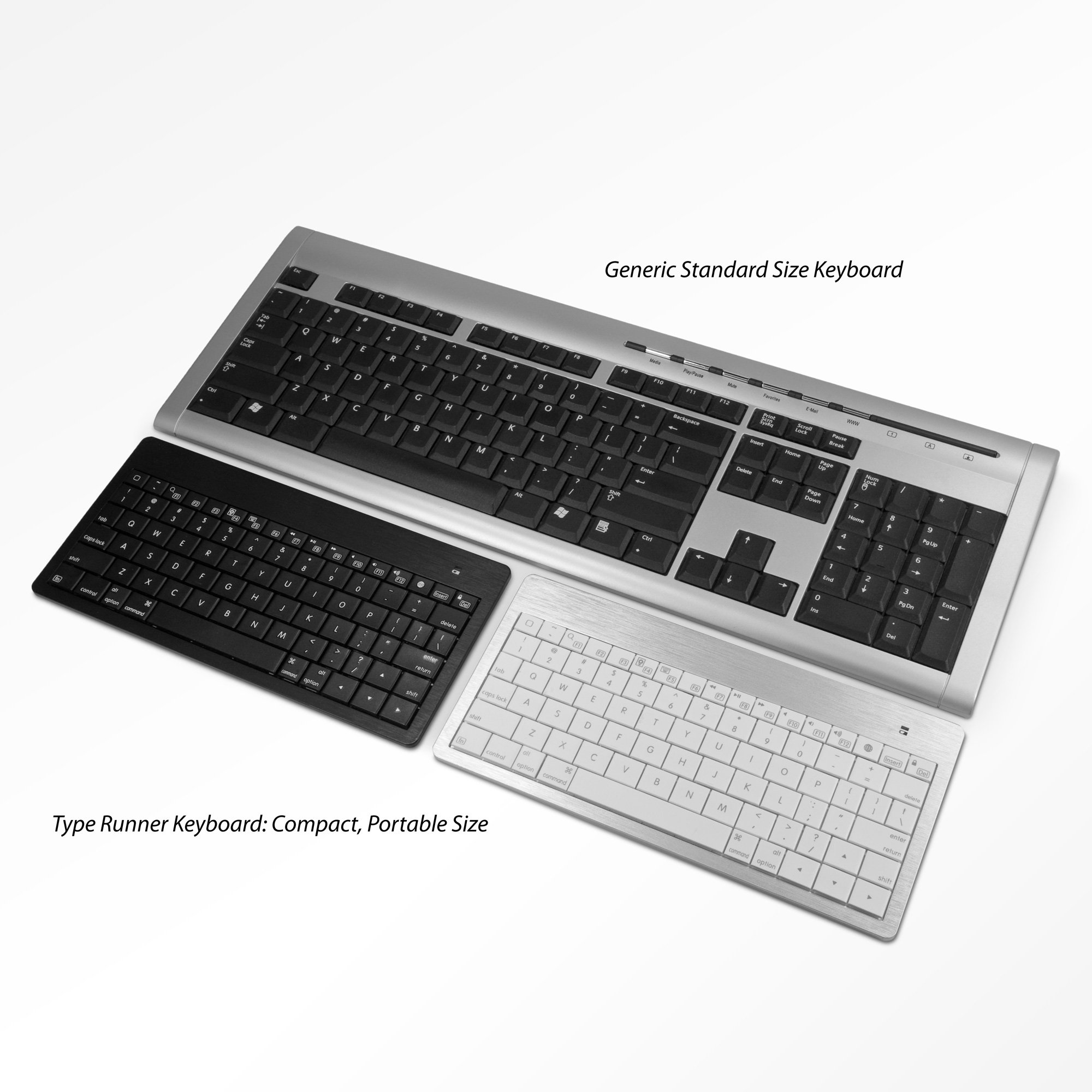 BoxWave Type Runner Keyboard for the Apple iPad 4 - Wireless Bluetooth iPad Keyboard, Ultra Portable iPad4 Bluetooth Wireless Keyboard with Integrated Apple Commands for The new iPad 4 (Jet Black)