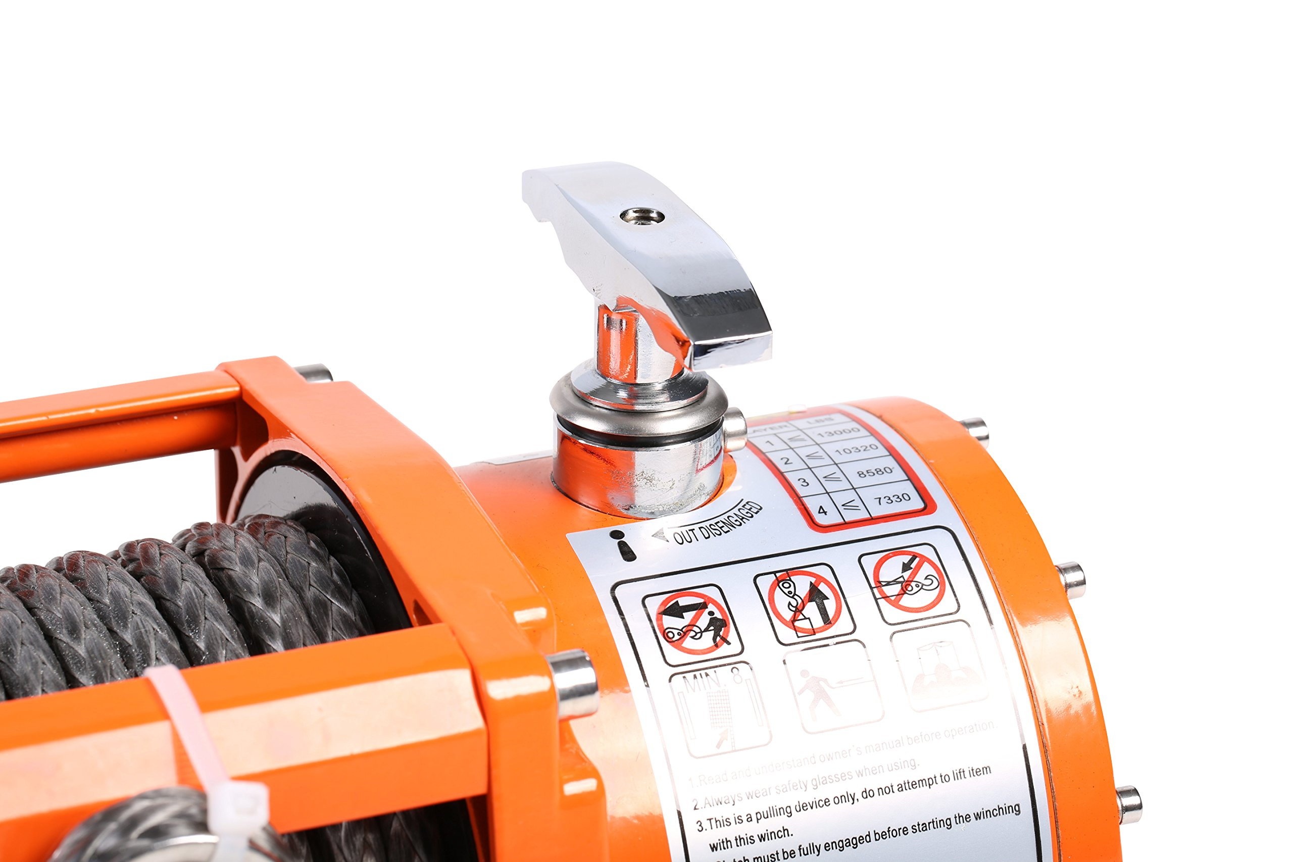 X-BULL 12V Waterproof Synthetic Rope Winch-13000 lb. Load Capacity IP67 by X-BULL (Image #4)