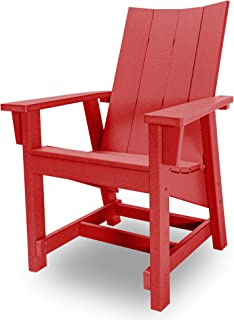 product image for Hatteras Hammocks Red Conversation Chair, Eco-Friendly Durawood, All Weather Resistance, Fit 'N' Finish Handcrafted in The USA …