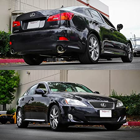 For Lexus IS250 IS350 Sedan Catback System Dual Exit 3 75 inches Tips  Axle-Back Muffler Exhaust Kit
