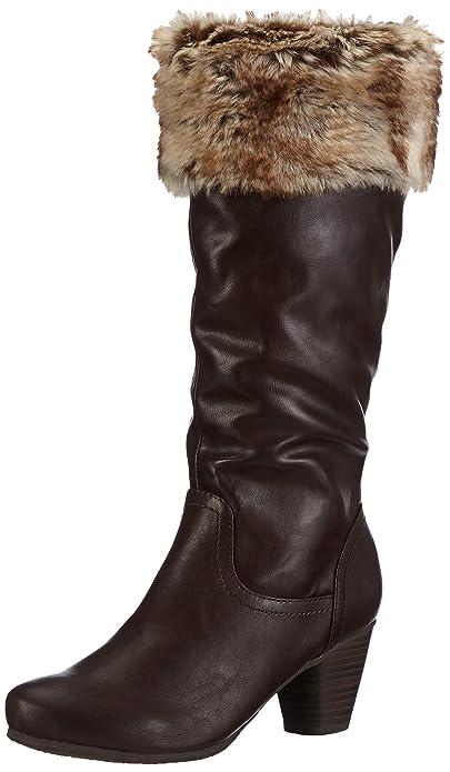 Andrea Conti Da. Stiefel - Botas, color Dark Braun 61, talla 40: Amazon.es: Zapatos y complementos