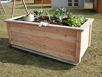 Kgt Hochbeet Woody Large B T H 214 99 79 Cm Amazon De Garten