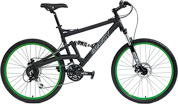 Gravity 2020 FSX 2.0 Dual Full Suspension Mountain Bike Disc Brakes Acera Suntour