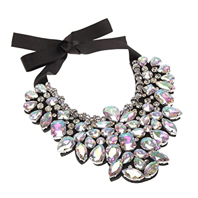 Holylove 5 Color Statement Necklace Earrings Set for Women Novelty Costume Fashion Jewellry 1 Set with Gift Box 7tWSgW