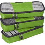 eBags Packing Cubes Packtaschen: 3-teiliges Packwürfel-Set Slim (Grasgrün)