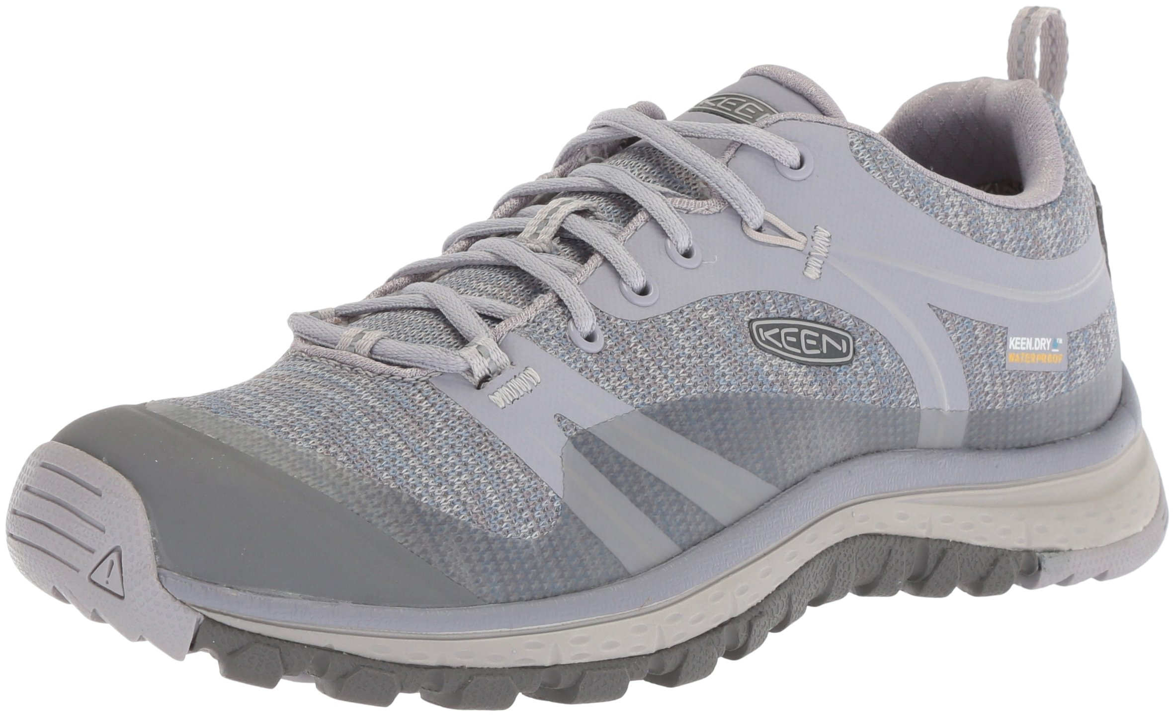 KEEN Women's Terradora WP-W Hiking Shoe, Dapple Grey/Vapor, 7 M US