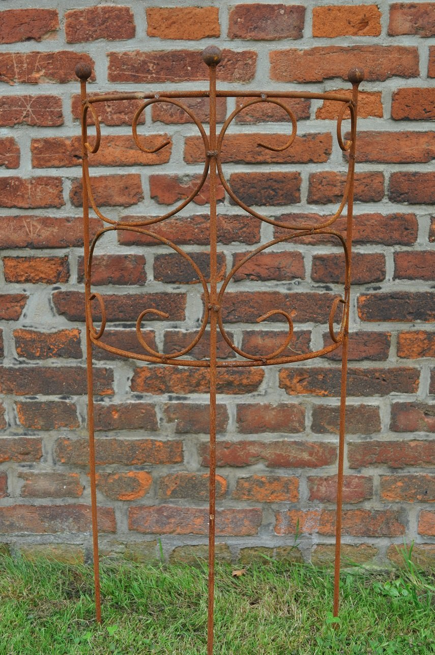 Rankgitter Staudenbinder Rankgerüst halb Eisen Rost 100cm hoch (3er Set (3 verschiedene Größen im Set))