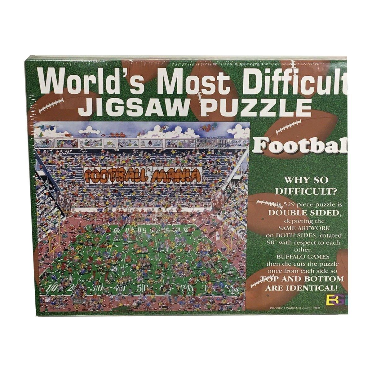 超歓迎された Buffalo Games Games World 's Double Most DifficultジグソーパズルFootball Edition Double Sided World 529ピース B07FFKK2GN, 垂井町:58b75b10 --- 4x4.lt