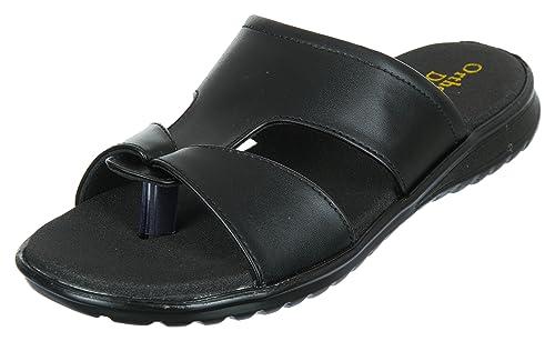 d66ef3a45 Medifoot Diabetic   Orthopedic Black Footwear Chappal for Men  Buy ...