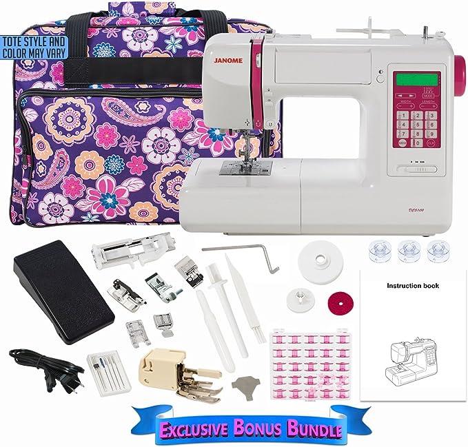 Janome DC5100 Máquina de coser computarizada con paquete de bono ...