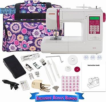 Janome DC5100 Máquina de coser computarizada con paquete de bono: Amazon.es: Hogar