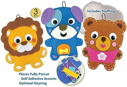 Childrens Sewing Kit Felt Friends 4 Different Designs Kids Craft Kits