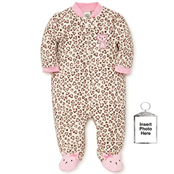 Little Me Warm Fleece Baby Pajamas Footed Blanket Sleeper Footie Leopard Print Kitty 9 Months
