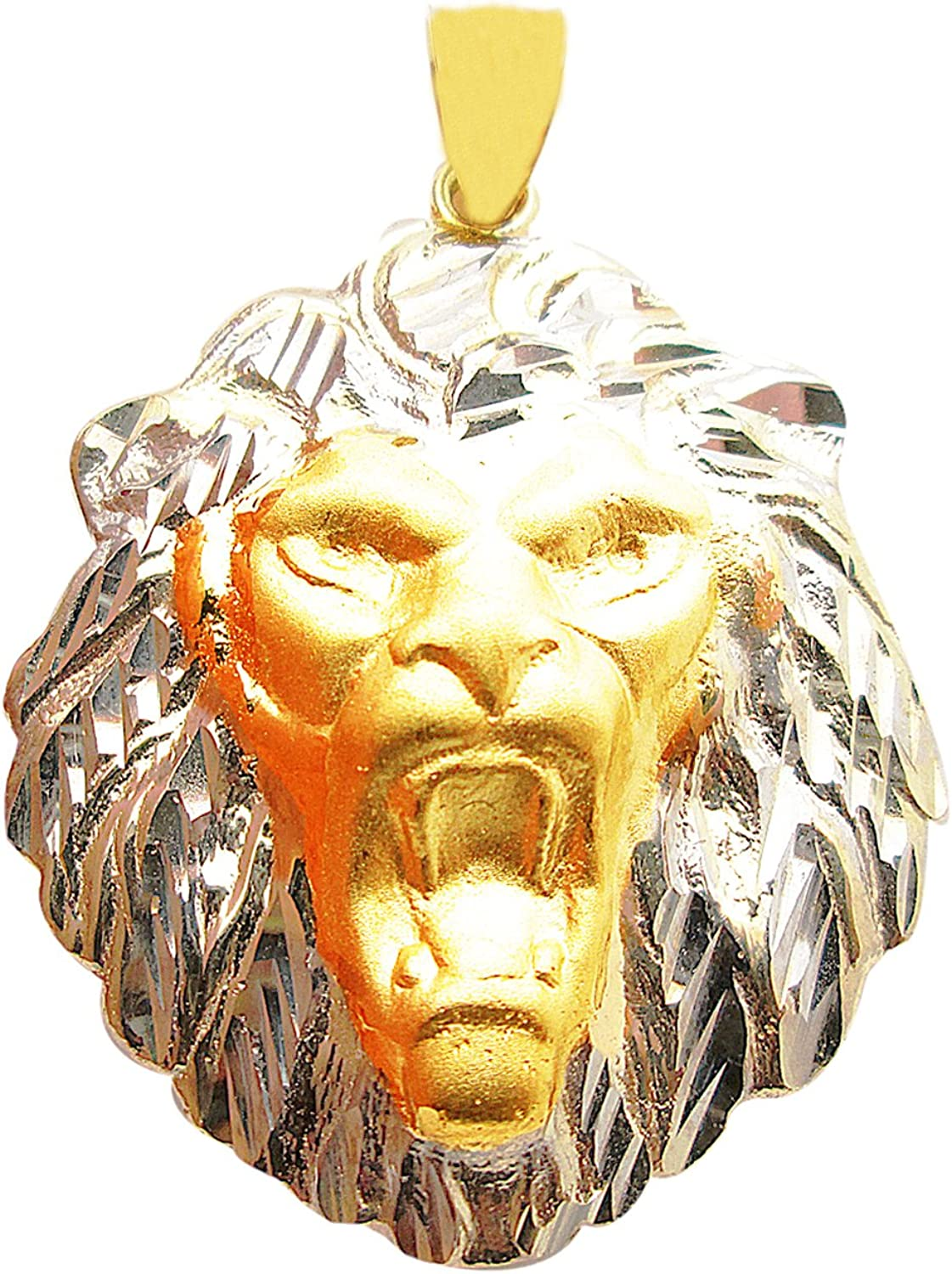 US-Shopsmart 10K Translated Two Tone Today's only Gold Pendant Lion Head Face Charm