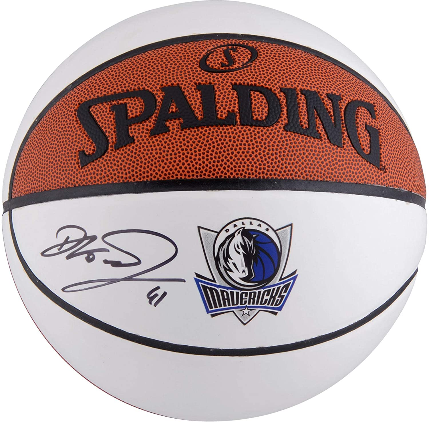 Dirk Nowitzki Dallas Mavericks Autographed Spalding White Panel Basketball - Fanatics Authentic Certified