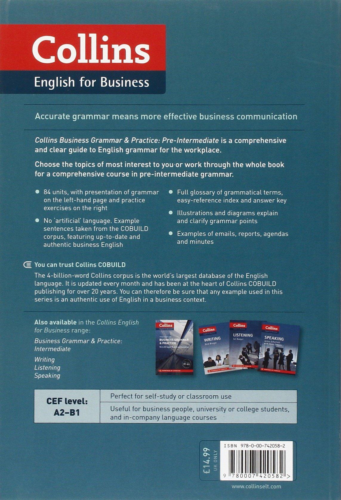 Business Grammar & Practice: A2-B1 (Collins Business Grammar