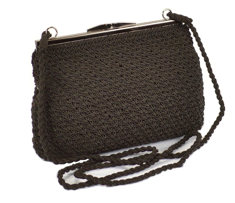 Vintage & Retro Handbags, Purses, Wallets, Bags Crocheted Vintage Evening Bag Clutch Snap Closure Mini Crossbody Crochet Purse $17.95 AT vintagedancer.com