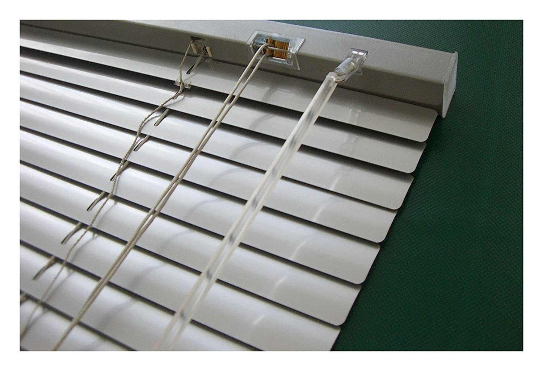 WR-Design Alu Jalousie Silber - Breite 40 bis 240 cm - Höhe 130 160   220 cm - Tür Fenster Rollo Jalousette Aluminium Fensterjalousie Lamellen Metall (170 x 220 cm) B077GXG389 Jalousien