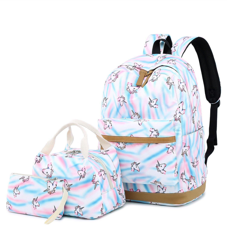 4d78299ee0ed CAMTOP Teens Backpack for School Boys Girls School Bookbag Set Travel  Daypack (A003 backpack set/Black)
