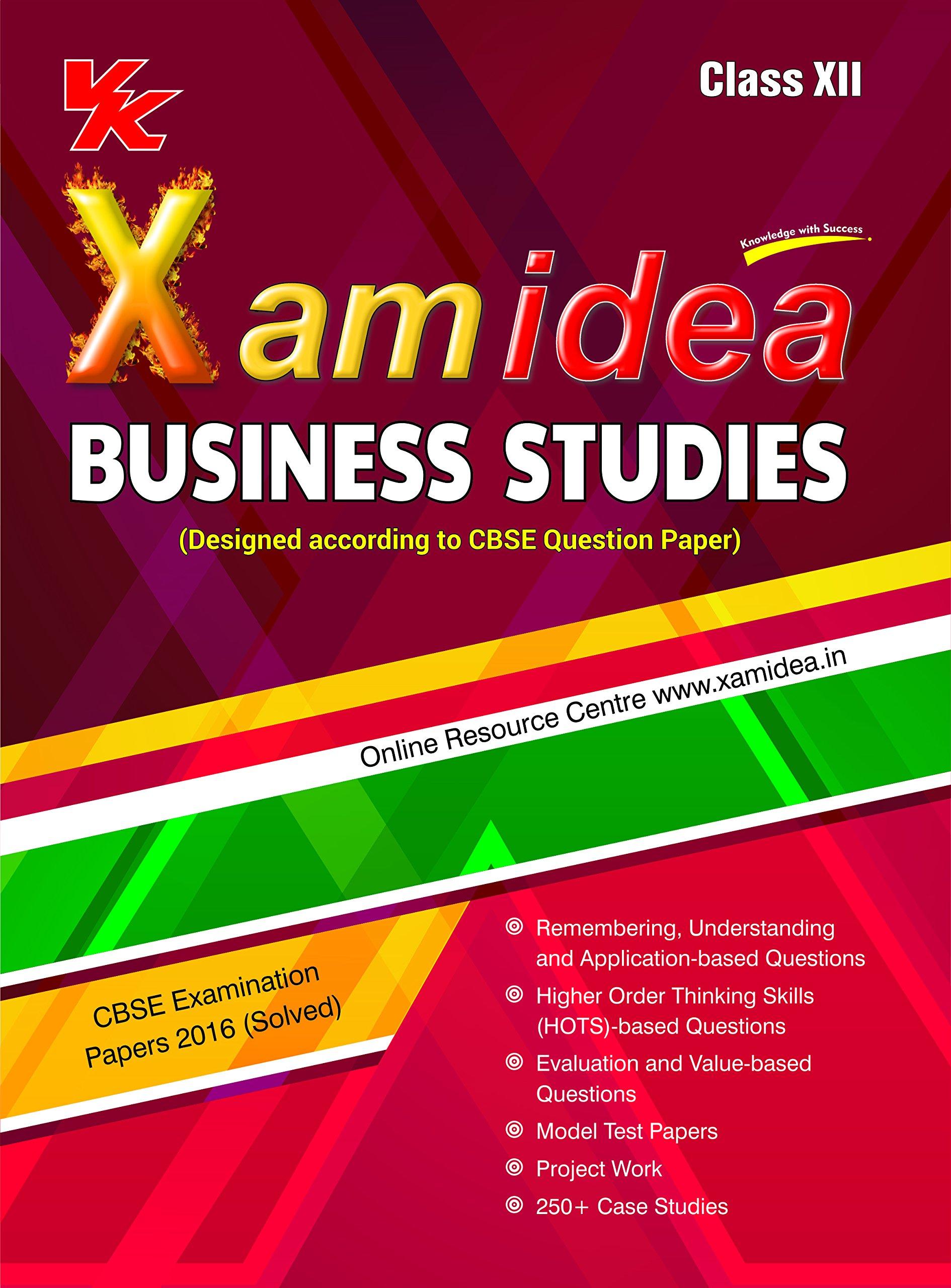 Xam Idea Business Studies Class 12: Xamidea Series (Author): 9789381420638:  Amazon.com: Books