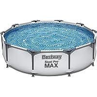 Bestway Steel Pro Max Basen Stelażowy, 4678, Szary/Biały, 305 x 305 x 76 cm; 17.6 kg