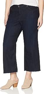 product image for James Jeans Women's Plus Size Carlotta Wide Leg Crop Jean in Siren Fray