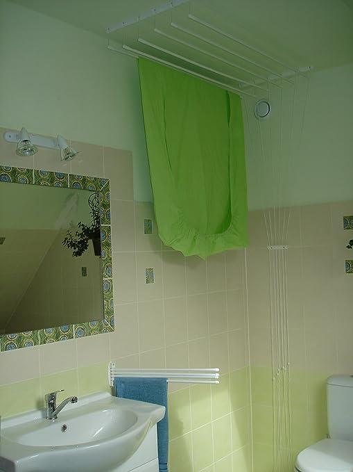 ETENDMIEUX® - Tendedero para sábanas y toallas (6 barras, 180 x
