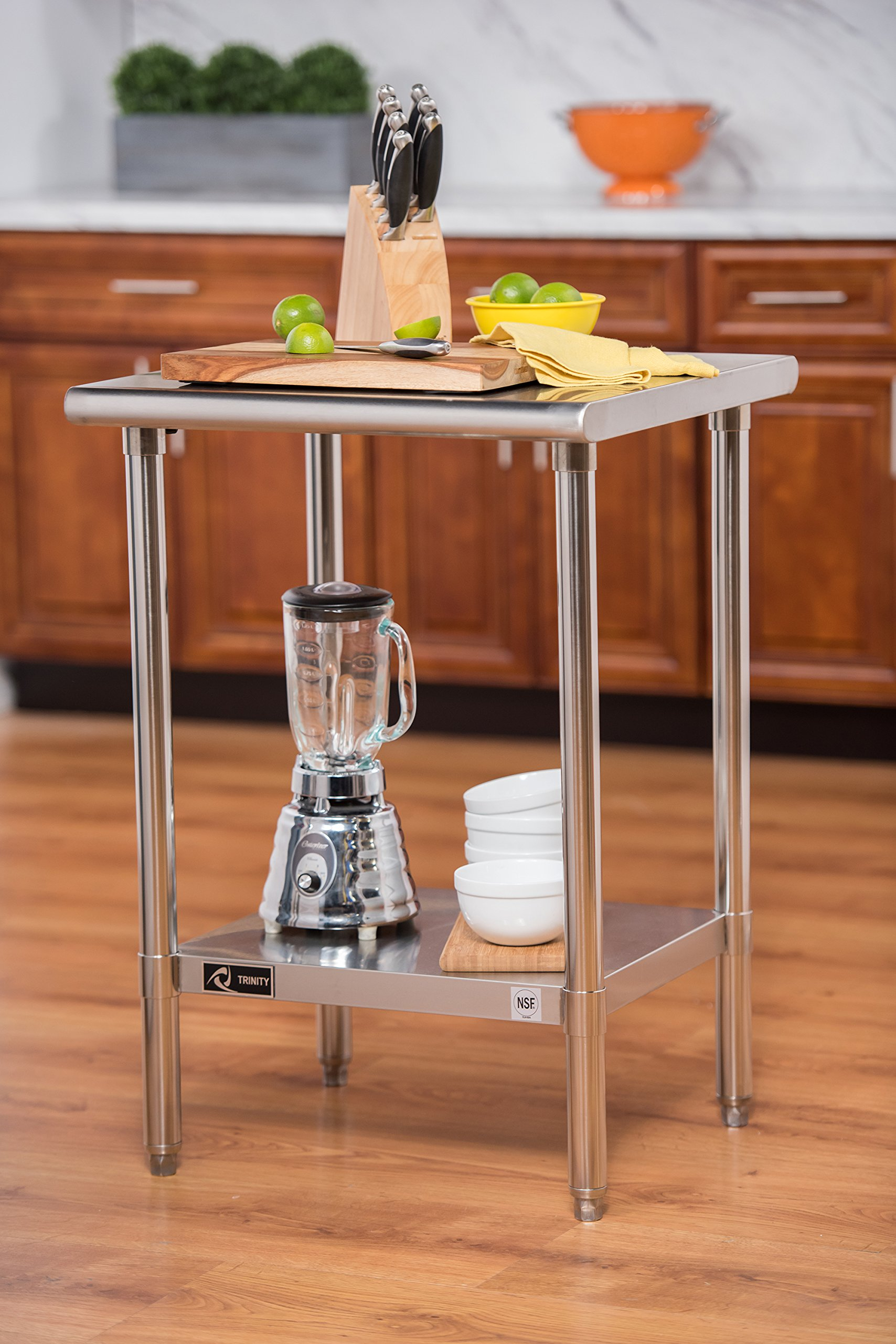 TRINITY EcoStorage 24'' NSF Stainless Steel Table