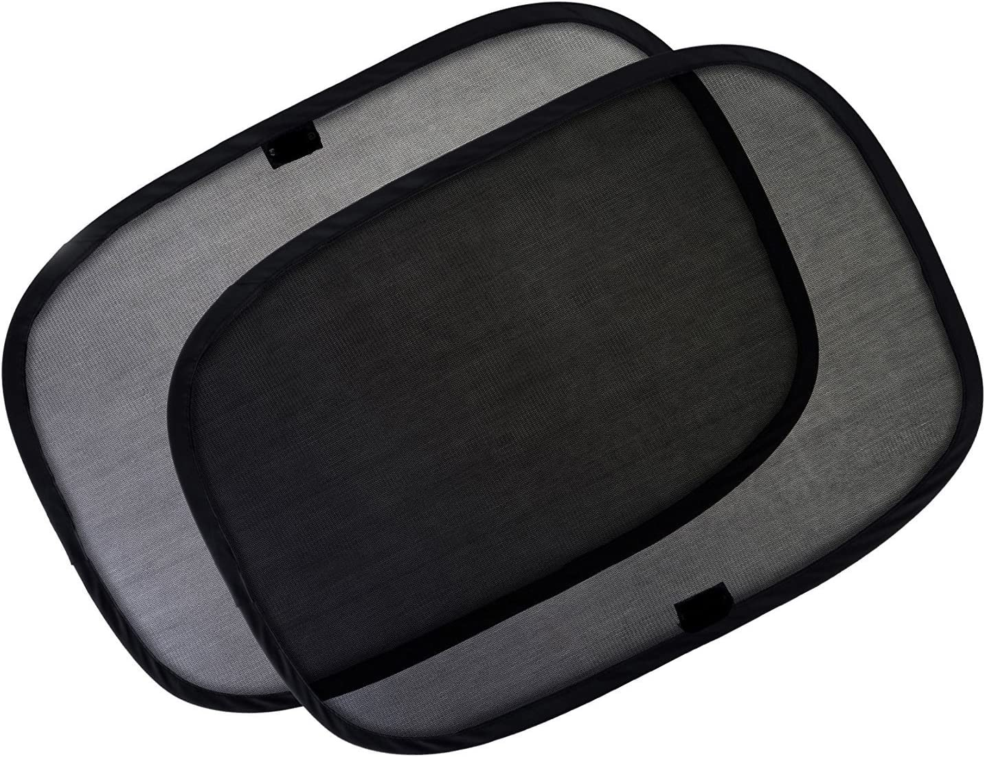Parasol para automóviles | Paquete de 2 | Bloquea el 98% de los rayos UV | Proteja a sus hijos y mascotas | Garantía de por vida del 100% | Static Cling No se requiere una ventosa