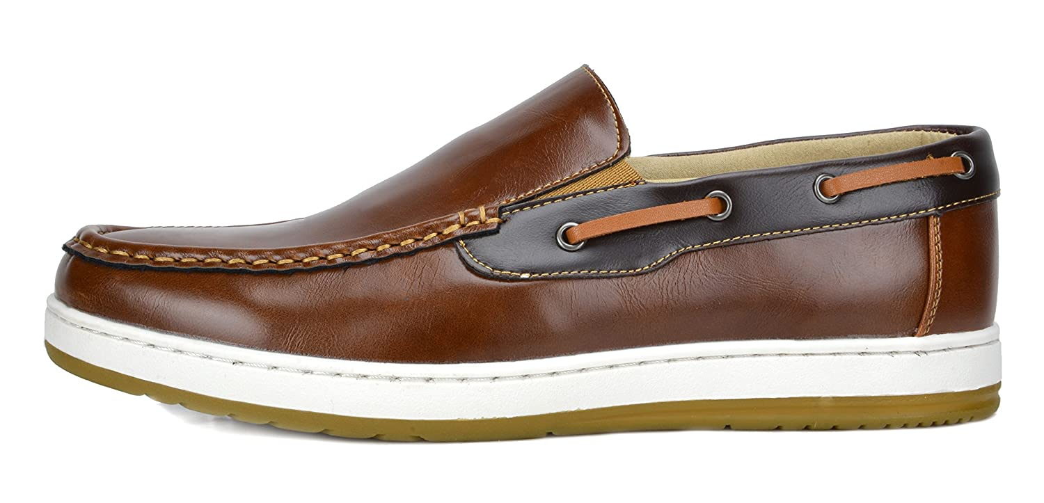 9d4ced02afb BRUNO MARC NEW YORK Men s Pitts Penny Loafers Moccasins Boat Shoes larger  image