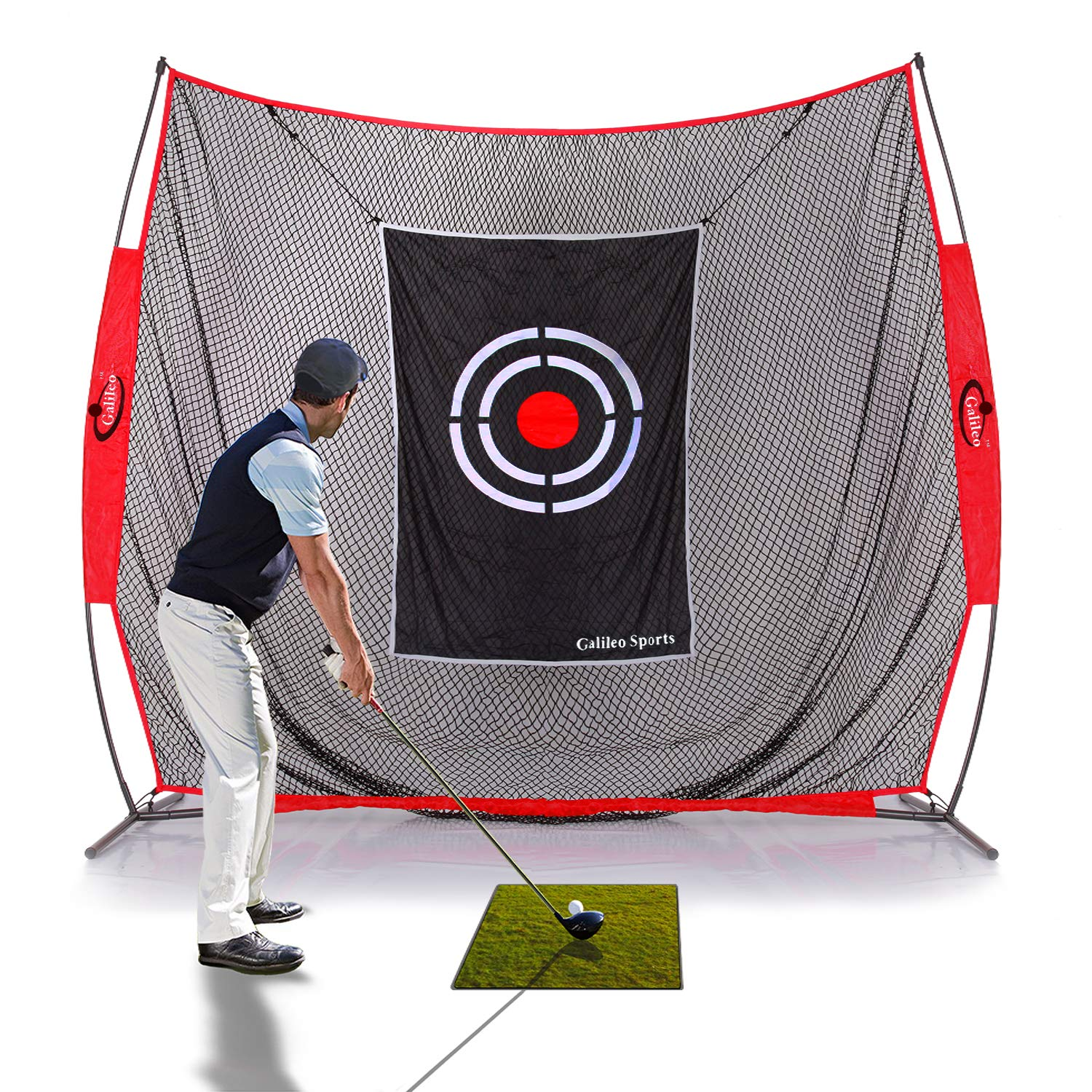GALILEO Golf Practice Net 7x8Feet Golf Hitting Nets Driving Range Indoor Outdoor Golf Training Aids with Target Carry Bag by GALILEO