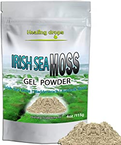 Irish Sea Moss Powder for Sea Moss Gel Gummies and Sea Moss Capsules Production - Wildcrafted Sun-Dried Bladderwrack Burdock Root | Gel Powder Seamoss Raw Organic Dr Sebi Cell Food Keto Diet
