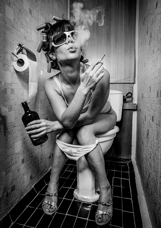 Din A1 PICSonPAPER Poster Toiletparty Wandbild Dekoration ungerahmt Din A1 Fineartprint Kunstdruck