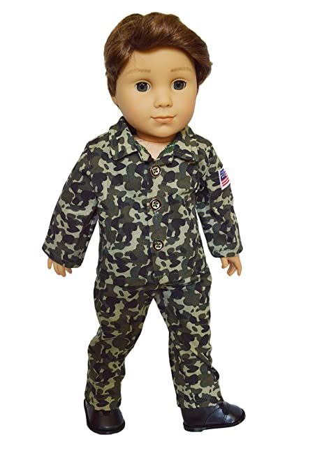 54128eedd3e1f Image Unavailable. Image not available for. Color  Brittany s My Army Outft  Compatible with American Girl Boy Dolls- 18 Inch Boy Doll Clothes