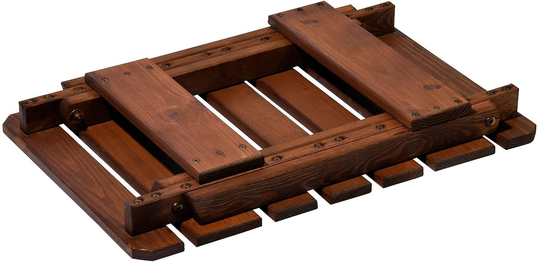 Taburete Plegable de Madera 76 x 37 x 44 cm Taburete de Madera del Pino fsc s/ólida engrasada dobar 29070FSC marr/ón