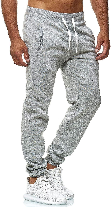 Mens Elastic Waist Drawstring Sweatpants Running Joggers Sweat Pants with Pockets