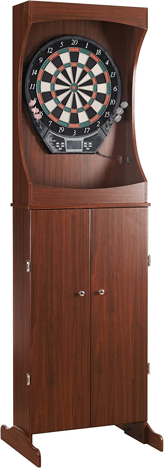 Centerpoint Solid Wood Dartboard Cabinet – Solid Poplar with Dark Cherry Finish