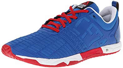 reebok crossfit shoes blue. reebok men\u0027s crossfit sprint tr training shoe, impact blue/excellent red/white, shoes blue