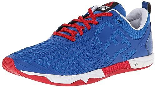 Reebok Men's Crossfit Sprint TR Training Shoe, Impact Blue/Excellent  Red/White,