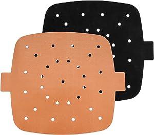 SMAT Reusable Air Fryer Liners – 8.5 Inch Square 2 PCS Non-Stick Air Fryer Accessories for COSORI, NINJA, INSTANT VORTEX, CHEFMAN, ULTREAN| BPA Free