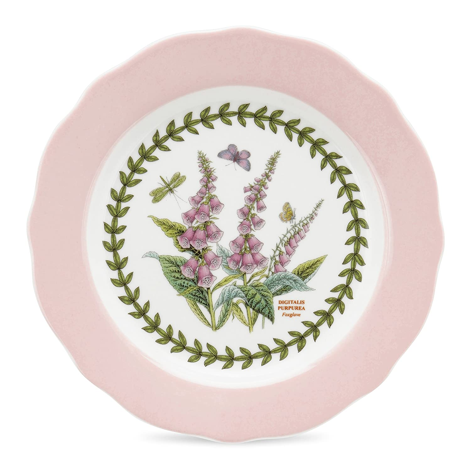 PORTMEIRION BOTANIC GARDEN TERRACE Scalloped edge dessert plates asst set of 4 COMINHKPR48530