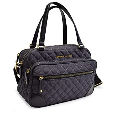 7d0d0566045d Adrienne Vittadini Diamond Quilted Duffel Tote Camera Bag Collection for  Travel Sports School College (CAMERA